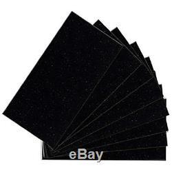 04415 Peel And Stick Glittered Black Nightsky Glass Wall Tile (48-Pack), 6 X 3