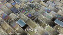 10SF Green Iridescent Glass Mosaic Tile Kitchen Backsplash Wall Faucet Spa Floor