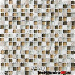10-SF blue Allure stone Glass Mosaic Tile kitchen backsplash wall bathroom sink