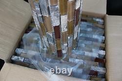 10 SHEET 10 SQ FEET Brown Mosaic Tile Mesh Sheet Marble Stone Glass Bath Kitchen