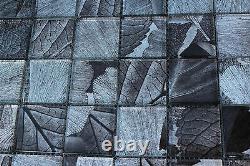 10 SHEET Black White Mosaic Tile Mesh Stone Glass Bathroom Kitchen Backplash