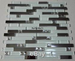 11PCS metal glass mosaic tile kitchen backsplash bathroom shower wall tiles