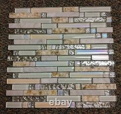 11 12x12 Sheets Interlocking Backsplash Glass Tile Kitchen Bath Wall Deco