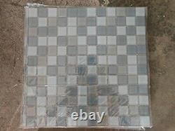 11 3/4 Blue Grey Blend Glass Mosaic Tile Backsplash Wall Spa Shower Stormy Sea