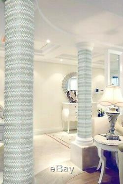 11 PCS Aqua Iridescent Glass Tile Basket Weave Mosaic Bathroom Wall Tiles YF-89