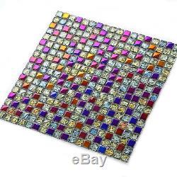11 Pieces Bunte Glass Mosaik Wall Tiles Blätter For Wohn-/ Esszimmer Bad Pub