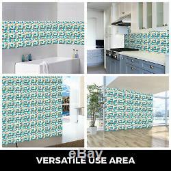 12 Sheets Mosaic Tile Glass Backsplash Tile Interlocking Kitchen Bath Wall Tile
