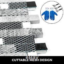 12 Sq Ft Interlocking Backsplash Glass Tile Iridescent Kitchen Bath Wall Deco