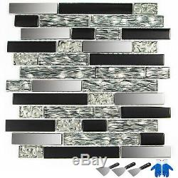 12 sqft Glass Tile Kitchen Backsplash Tile Mosaic Art Home Decor Bath Wall
