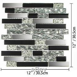 12 sqft Glass Tile Kitchen Backsplash Tile Mosaic Art Home Decor Bath Wall