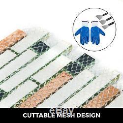 12 sqft Iridescent Glass Tile Kitchen Backsplash Tile Mosaic Art Decor Bath Wall