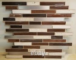 14 Pcs 12 x 12 Instant Mosaic 3D Peel & Stick Backsplash Tiles BRAND NEW