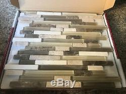 16 boxes Golden Select Glass & Stone Mosaic Wall Tile 616673 Med Fusion Tiles