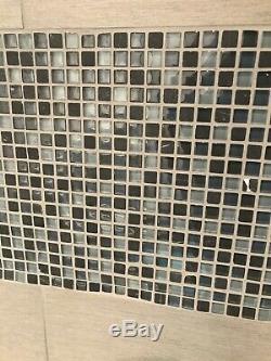 1/2 X 1/2 Blue Grey Blend Glass Mosaic Tile Backsplash Wall Spa Shower 5 SHEETS