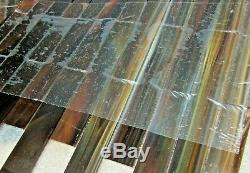 $1 per sheet Tea Rose Stained Glass Kitchen Bath Wall Mosaic Tile