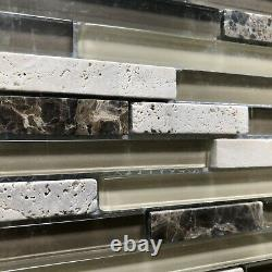 24 sq. Ft Golden Select Glass and Stone Mosaic Wall Tiles