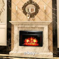 26 inch 1500w Embedded Fireplace Inclined Wall Tile / Fake Wood / Single Color