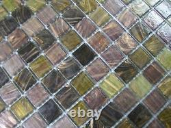 33 x SHEETS OF GLASS MOSAIC TILES SPARTAN MIX