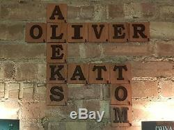 3D Large Tiles Scrabble Wooden Letter Wall Art Plywood Finished Danish Oil Decor