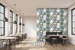 3D Light Glass Flower 1 Texture Tile Marble Wall Paper Decal Wallpaper Mural AJ