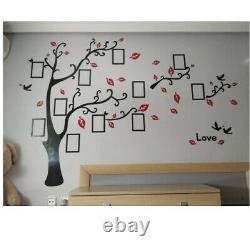 3D Photo Frame Acrylic Tree Wall Stickers Crystal Mirror DIY Family Decor Design