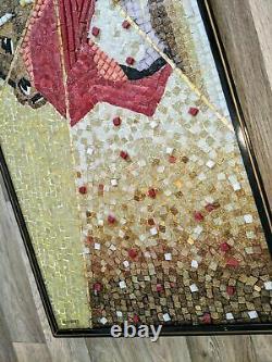 3D Wall Hanging Glass tile and Mineral Mosaic Matador by Genaro Alvarez 1955