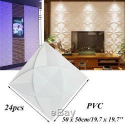3D Wall Panel PVC Home 3D Wall Decoration DIY 3D Wall Decor 19.7(50cm) 24pcs