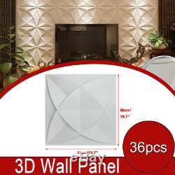 3D Wall Panel PVC Home 3D Wall Decoration DIY 3D Wall Decor 19.7(50cm) 36pcs