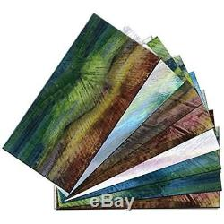 4412 (48-Pack) Peel And Stick Glass Wall Tile, 6 X 3, Multicolor Tiles