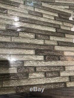 5x Luxe Interlocking 8mm GlassTile Kitchen Backsplash Mosaic Art Decor