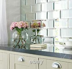 6x12 Wide Beveled Subway Decorative Backsplash Wall Mirror Tile (BOX 0F 10)