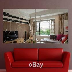 Acrylic Mirrored Wall Sticker Home Decor Living Room Decoration Geometric