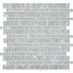Akoya Brick 12 in. X 12 in. X 8 mm Glass Mesh-Mounted Mosaic Wall Tile 10 sq. F