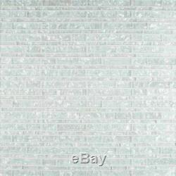 Akoya Brick Glass Mesh-Mounted Mosaic Wall Tile Pattern-MSI-1Box=10Sqft