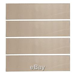 Aluminum Brown 4 in. X 16 in. Glossy Glass Wall Tile (10.56 sq. Ft. / case)