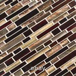 Antico Interlocking Glass Mesh-Mounted Mosaic Wall Tile-MSI-1 = 9.7 SF (1=1 Box)