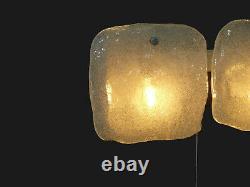 Attractive Kalmar Wall Light, 2 Ice- Glass Tiles, Chrome, Mid Century