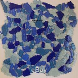 BAHAMA SURF Blue Glass Mosaic Tile Bath Pool Tiles Backsplash Spa Floor Wall