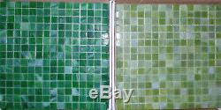 Backsplash Tile Green Glass Tile Mosaic Tiles Wall Bath Kitchen 13 x 13
