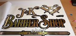 Barber Shop Window Sticker Wall Signs Decal Salon Custom Traditional Modern Big