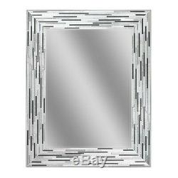Bathroom Vanity Mirror Wall Mosaic Tile Gray White Frame Home Deco Contemporary