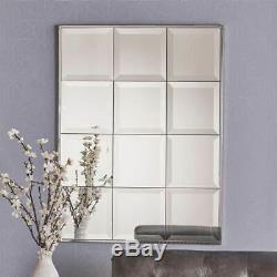 Benno Rectangular Tile-Like Wall Mirror in Clear ID 3843490