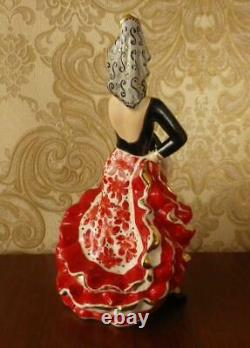 Bolero Spanish Folk Dancer Lady Gypsy Ukrainian Russian porcelain figurine 3855u