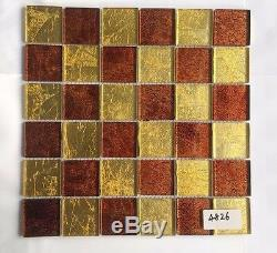 CHOIS Wholesale 12PCS Backsplash Tiles Close Out Glass Smart Mosaic Walls 4826