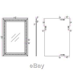 Camden Isle Mosaic Tiled Frame Wall Mirror with Beveled Mirrored Glass