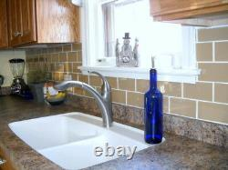 Champagne Glass Subway Tile 3x6 for Backsplashes & More BOX OF 11 SQFT