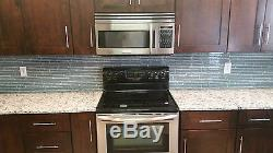 Chimney Smoke Blue Gray Linear Mosaic Tiles Kitchen or Bathroom Tile