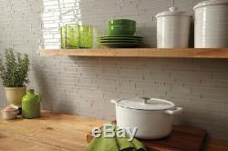 Daltile AM36L Grey Amity 6 X 3 Subway Wall Tile Smooth Glass Visual
