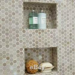 Daltile UP1HEXMSP Uptown Glass 1 x 1 Hexagon Mosaic Wall Tile Ebony