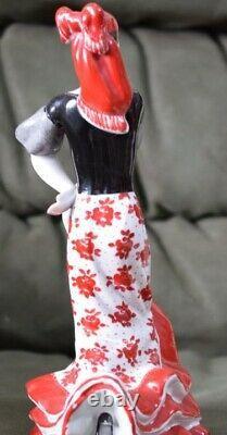 Dancer Gypsy Romany woman lady Russian USSR porcelain figurine Vinatge 4510u